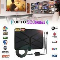960 Mile TV Aerial Indoor Amplified Digital HDTV Antenna 4K HD DVB-T Freeview TV