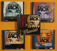 (5) PC Games - You Don't Know Jack 1,2,3,4 & Movies (Win) Jackbox, Vintage