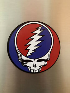 Grateful Dead Steal Your Face Magnet Premium Quality 3 in Jerry Garcia