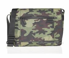 New Michael Kors Mens Travis Army Camouflage Large Messenger Bag Case