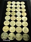 COMPLETE SET OF 32 COMMEMORATIVE COINS OF POLAND - POLISH HISTORICAL CITIES MINT