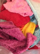 1KG Mixed Bright Plush Dimple Fabric Job Lot Wholesale Fabric Mostly FQ Mink