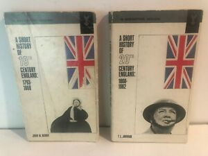 Short History of 20th Century England; 19th Century England; lot of 2 PBs 1st ed