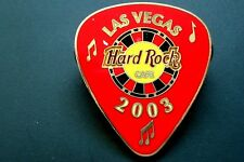 HRC hard rock cafe las vegas red Guitar pick casino 2003 le500