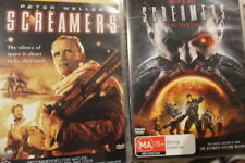 SCREAMERS & SCREAMERS 2 THE HUNTING RARE DELETED DVD  PETER WELLER SCI-FI FILM