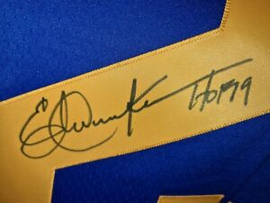 ERIC DICKERSON 29 LA RAMS MITCHELL & NESS Signed Autographed Football Jersey COA