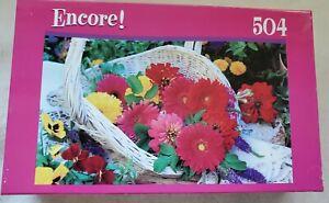 Encore Flower Basket Jigsaw Puzzle, 504 Pieces, by Mega Brands, factory sealed