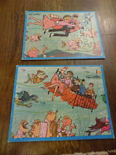 Walt Disney Vtg Lot Bedknobs And Broomsticks Tray Jigsaw Puzzles Bed dancing sea