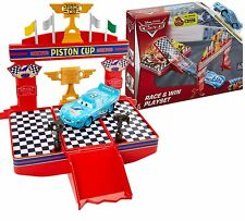 Disney Cars Action Drivers DINOCO MCQUEEN Winner's stand Race & Win Playset