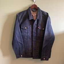 New MENS XXL Levi's GOLD BLUE JEAN DENIM Trucker Jacket