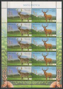 2008 Moldova-Kazakhstan Joint Issue Fauna Deer MNH