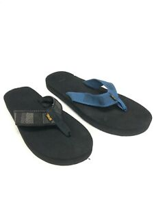 Teva Men's Original Mush Flip Flops Sandals Raki Blue Black 1001824