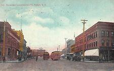 ND - 1908 Trolley on Broadway Looking South in Fargo, North Dakota