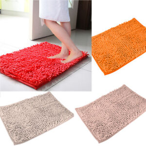 Bath Mat Non-slip Bathroom Rug Fashion Soft Shaggy Microfiber Floor Mat UK