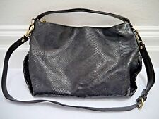 IL BISONTE dark brown black python skin handbag hobo crossbody bag **RARE**