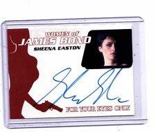 2014 James Bond Archives Sheena Easton auto card