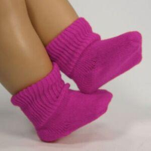 "New - Sophia's Fuchsia  Scrunch Socks #SD907 fits 18"" American Girl Dolls"