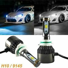 H10 9145 9140 LED Fog Driving Lamp Bulbs White Ice Blue Dual Color Switch Lights