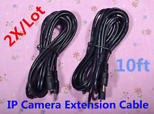 2pcs 3M 10ft 22AWG IP Camera DC Power Adapter Extension Cable Cord Foscam Undien