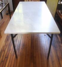 Gorgeous Custom Marble Dining Table with Steel Base Vintage Mid Century