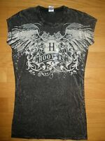 NEW WOMENS SEXY BLACK/BROWNISH HOOTERS WINGS TATTOO T-SHIRT SIZES SM/MED/LRG/XL