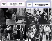 """FICHE CINEMA x2 : LE """"SERIAL"""" MUET ET PARLANT DE 1908 A 1956 - Judex,Vidocq"""