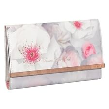 NEW-TED BAKER LONDON CHELSEA FLORAL TRAVEL JEWELRY ROLL HOLDER CLUTCH ROSE GOLD