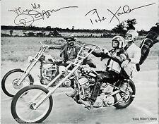 "EASY RIDER  Peter Fonda Dennis Hopper   8""X10"" B&W Autographed Photocopy EASY-02"