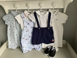 Baby Boy 7 Piece Nautical Outfit Bundle - 6-9 Months