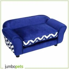 Sofa Bed for dogs and cats soft fashion bed lounge with pet Cushion Navy