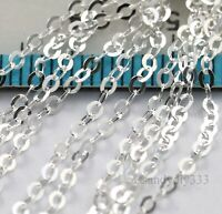 """24"""" (24 inches) x STERLING SILVER BRILLO OVAL CHAIN 1.6mm footage open #3120"""