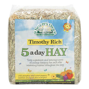 Timothy Rich 5 A Day Animal Pet Hay With Added Pumpkin, Sweet Peppers & Beetroot