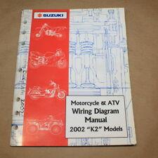 Suzuki 2002 Atv/Motorcycle Factory Wiring Electrical Diagrams Manual 99923-54002