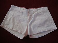"""CUTE JOE BROWNS BABY PINK BUTTON FLY COTTON HOT PANTS SHORTS SIZE 10-12 HIPS 34"""""""