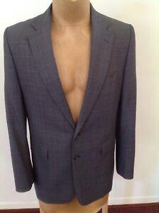 Mens CHARLES TYRWHITT Jermyn St London Grey Check Suit Size 42 L ..