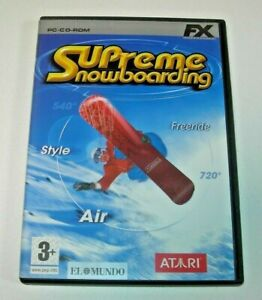 Supreme Snowboarding PC edición española muy buen estado