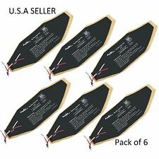 """Facon 6 pcs 3"""" x 8"""" 12V RV Pipe Elbow Heater Pad for 1 1/2"""" Elbow Pipe Motorhome"""