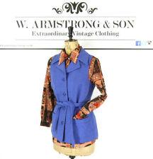 Button Wool Casual Waistcoats for Women