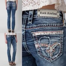 NWT New Womens Rock Revival Luiza Straight Jeans 25 26 27 28 29 30 31 32 R & L