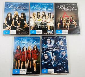 Lot X 5 Pretty Little Liars DVDs Seasons 1 2 3 4 5 Set Free Fast Post