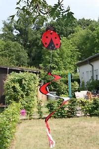 Windspiel Marienkäfer 90 cm lang