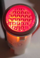 Red w/ Steel Bezel Panel Mount Round Indicator Light - Solico 14V - 1 Watt