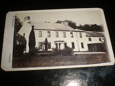 Cdv old photograph large farm house by Elliott at Penrith c1870s