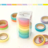 10PCS New Washi Tape Set Masking Scrapbook Decorative Paper Adhesive Sticker DIY