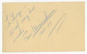 Bill Mosienko Signed AUTO GPC Chicago Blackhawks Hockey HOF postmarked 1949 LOA