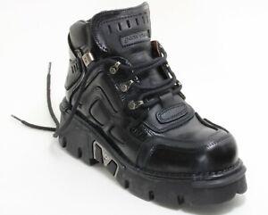 92 Stiefel Plateau Gothic Leder Boots New Rock 541 Planet Metall Original 43