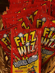 Retro Sweets FIZZ WIZ STRAWBERRY POPPING CANDY Space Dust Ideal For Party Bags