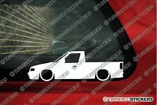 2x Low car outline stickers - for Skoda Felicia Pick-up / caddy