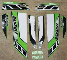 Yamaha banshee quad stickers graphics decal 10pc Special Edition Green/White ATV