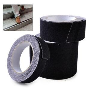 BLACK ROLL SAFETY NON SKID TAPE ANTI SLIP TAPE STICKER GRIP SAFE GRIT
